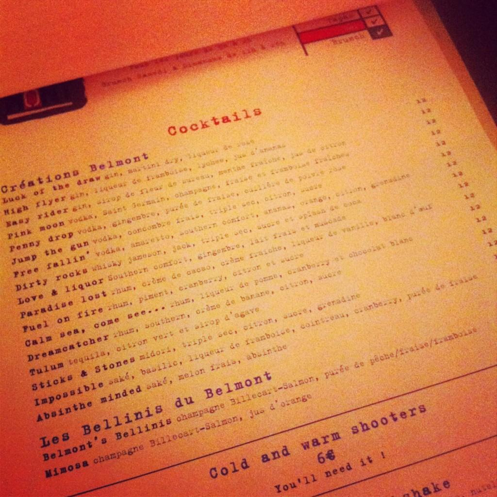 Belmont - Extrait cocktails