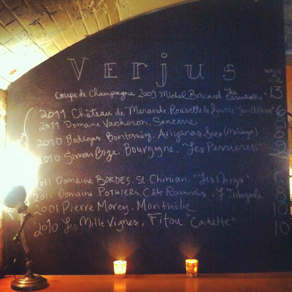 Verjus - Vins proposés