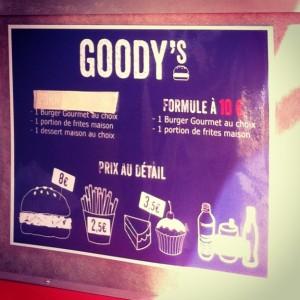 Goody's - prix