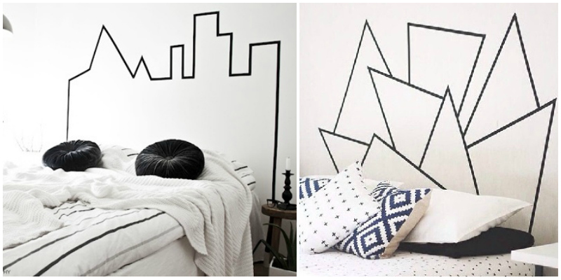 Beautiful Le Bon Coin Tete De Lit #2: Tête-de-lit-masking-tape-diy.jpg