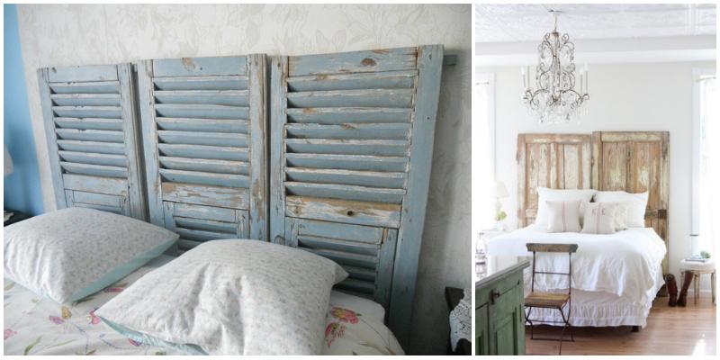 Tête de lit volet portes